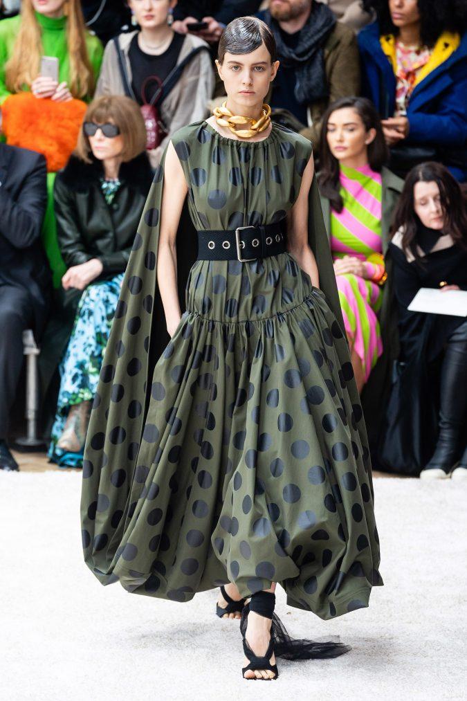 fall-winter-fashion-2020-caped-dress-J.W.-Anderson-675x1013 +80 Fall/Winter Fashion Trends for a Stunning 2020 Wardrobe