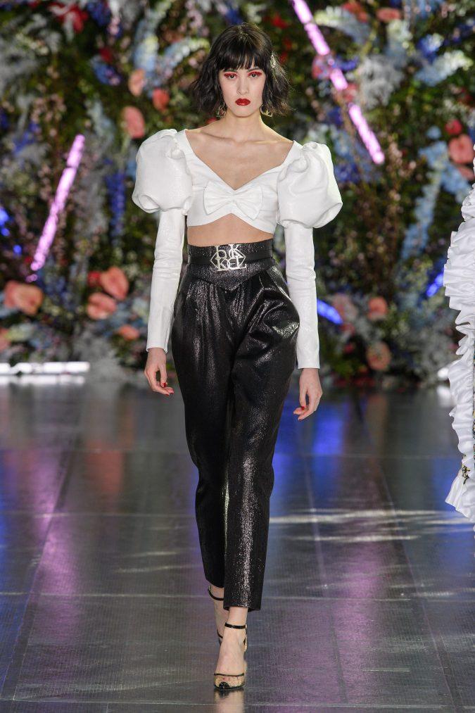 fall-winter-fashion-2020-crop-top-bow-disco-pants-Rodarte-675x1013 +80 Fall/Winter Fashion Trends for a Stunning 2021 Wardrobe
