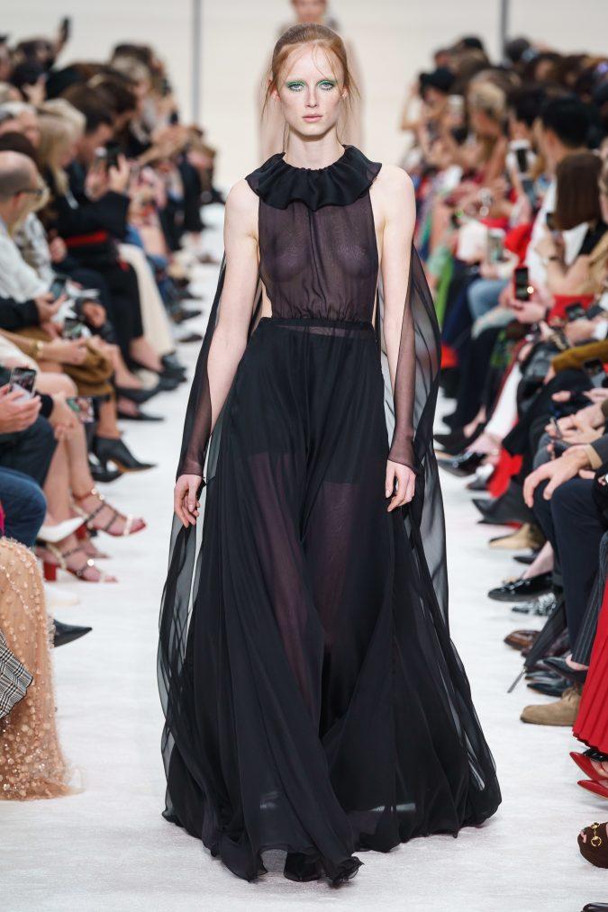 fall-winter-fashion-2020-dress-cape-ruffle-neck-Valentino-675x1013 +80 Fall/Winter Fashion Trends for a Stunning 2020 Wardrobe