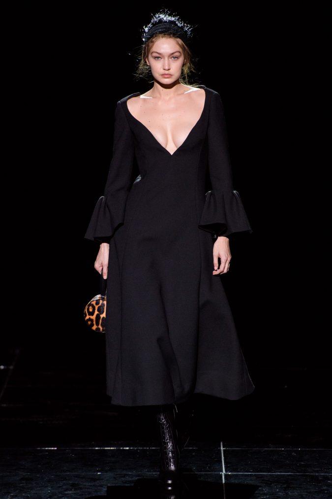 fall-winter-fashion-2020-dress-ruffled-sleeves-675x1013 +80 Fall/Winter Fashion Trends for a Stunning 2021 Wardrobe