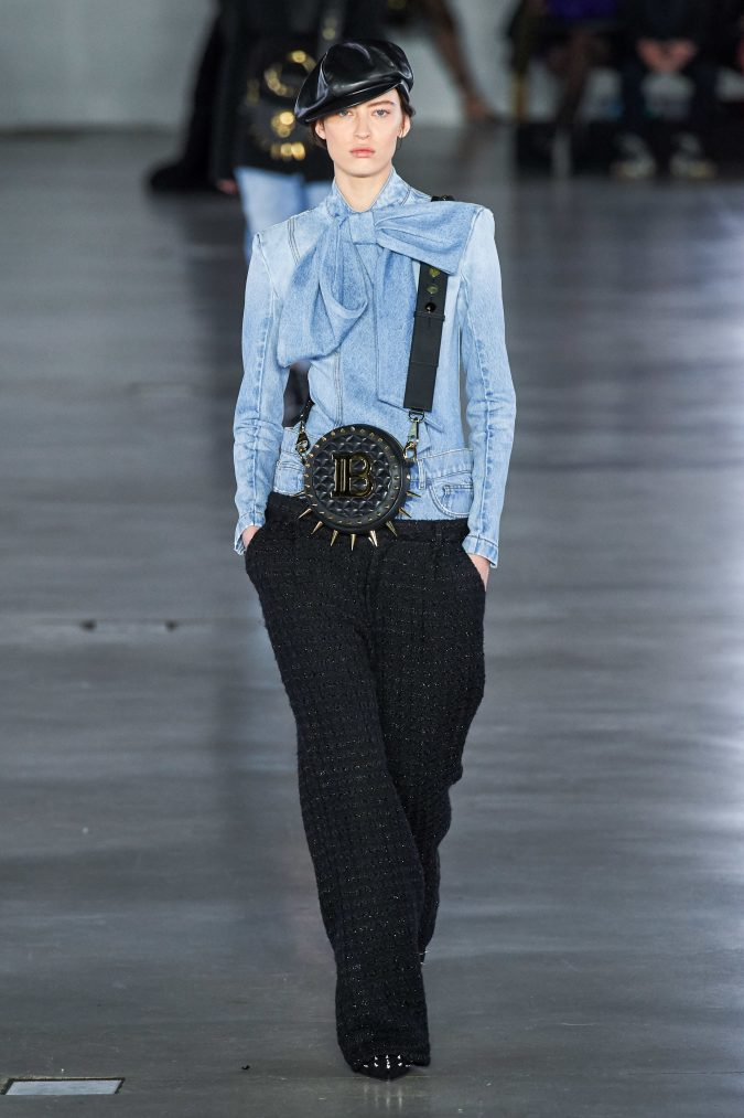 fall-winter-fashion-2020-jeans-shirt-and-tweed-pants-Balmain-675x1013 65+ Hottest Fall and Winter Accessories Fashion Trends in 2020