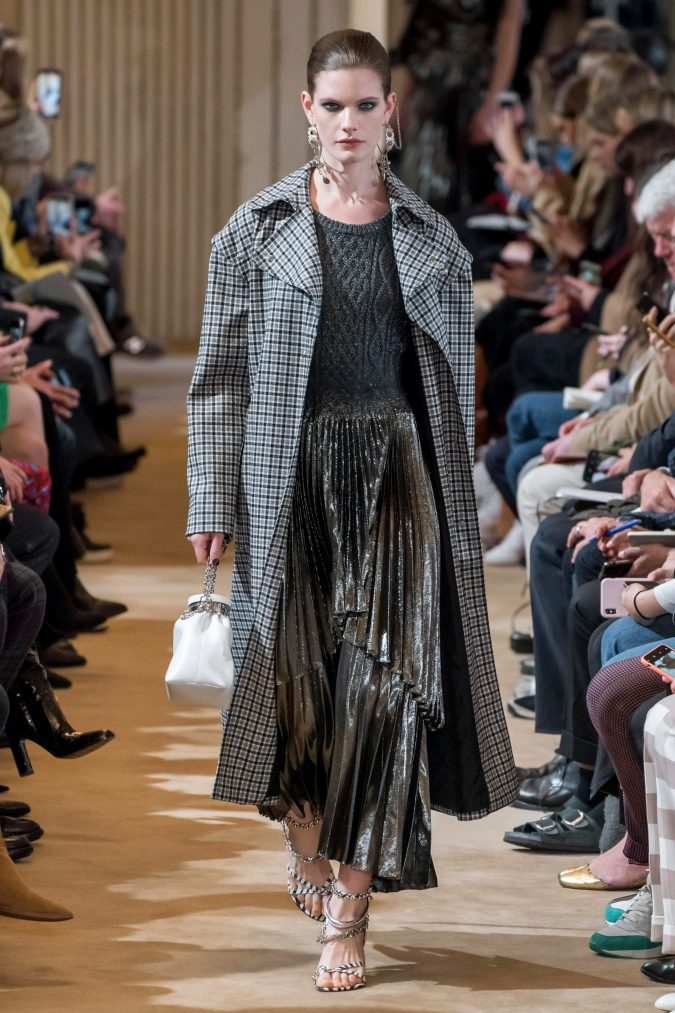 fall-winter-fashion-2020-knitted-sweater-pleated-skirt-checked-coat-Altuzarra-675x1013 90 Fall/Winter Fashion Ideas for a Perfect Combination of Vintage and Modern in 2020