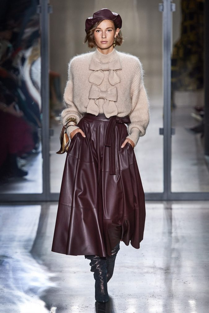 fall-winter-fashion-2020-knitted-top-leather-skirt-earthy-colors-Zimmermann-675x1013 65+ Hottest Fall and Winter Accessories Fashion Trends in 2020