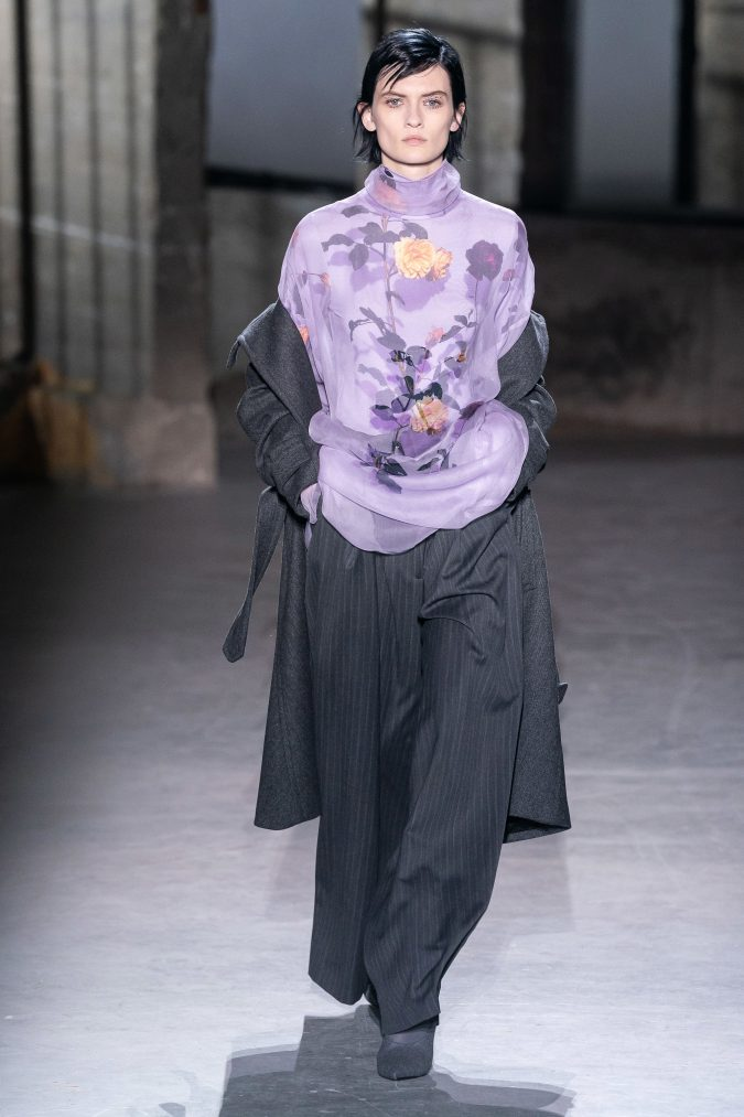 fall-winter-fashion-2020-layered-sleeves-Dries-Van-Noten-675x1013 +20 Fall Fashion Trends of 2020 for the Fans of Unusual Shoulders and Sleeves
