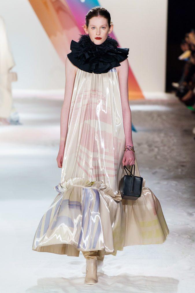 fall-winter-fashion-2020-meringue-dress-Roksanda-4-675x1013 60+ Retro Fashion Designs of Fall/Winter 2020 Inspired by the 80s and 90s