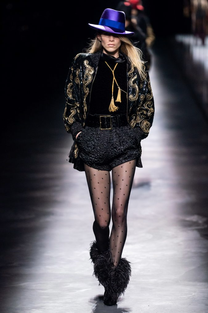 fall-winter-fashion-2020-nightclub-style-saint-laurent-675x1013 60+ Retro Fashion Designs of Fall/Winter 2020 Inspired by the 80s and 90s