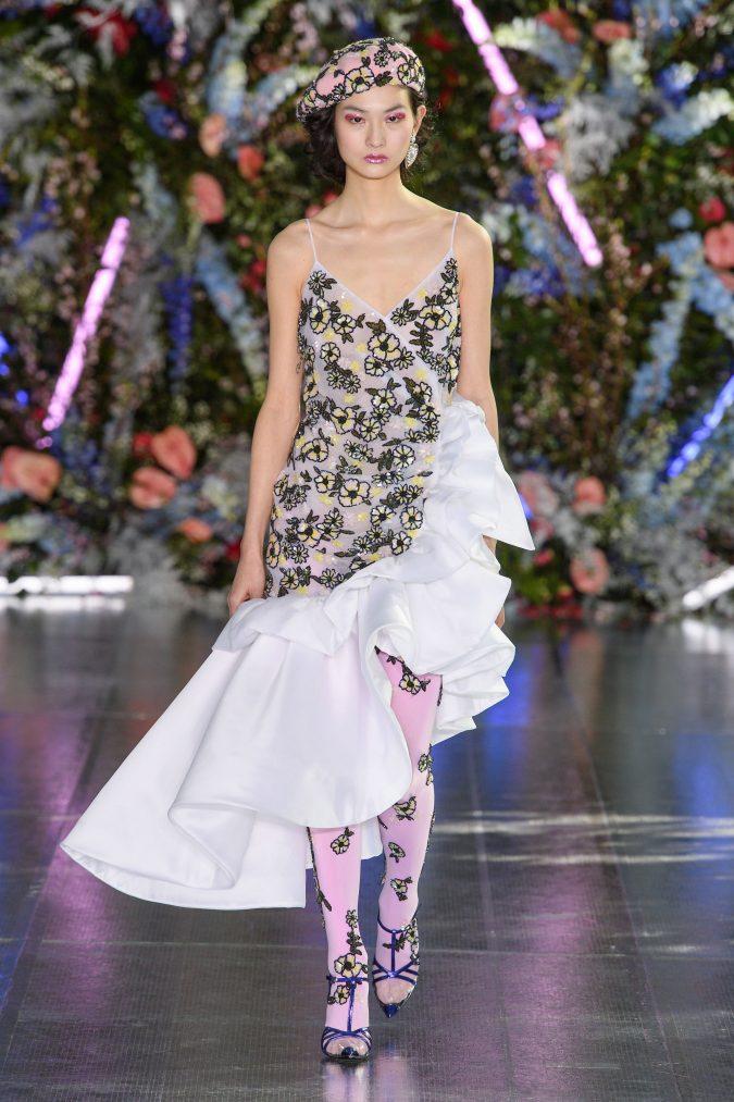 fall-winter-fashion-2020-ruffled-camisole-dress-675x1013 +80 Fall/Winter Fashion Trends for a Stunning 2021 Wardrobe