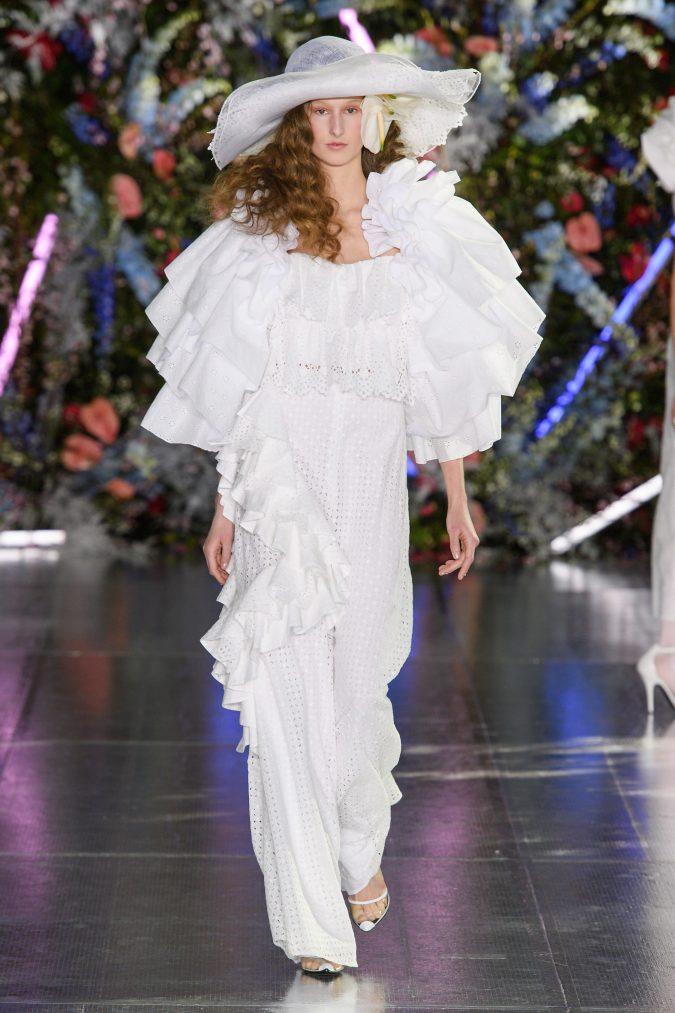 fall-winter-fashion-2020-ruffled-shoulders-Rodarte-675x1013 +80 Fall/Winter Fashion Trends for a Stunning 2021 Wardrobe