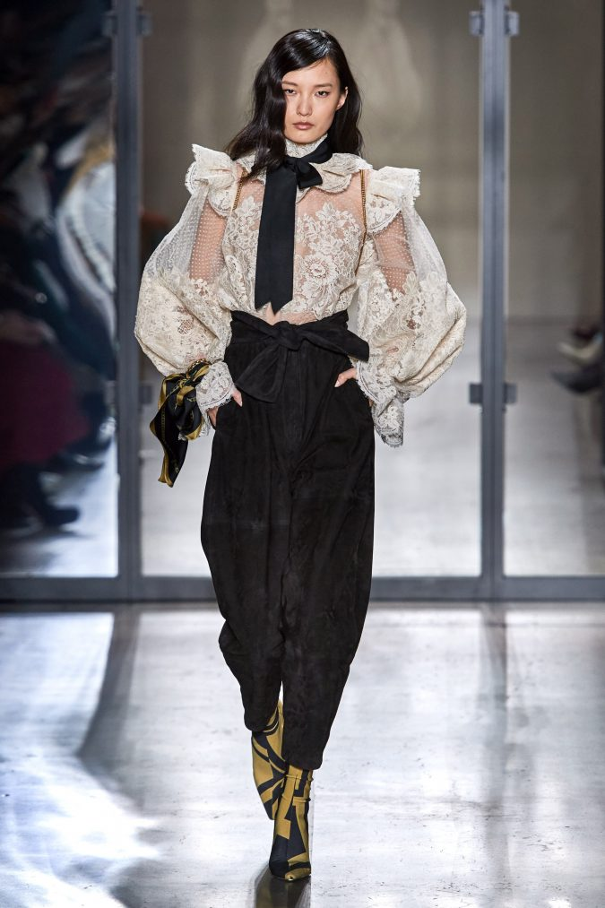 fall-winter-fashion-2020-ruffled-top-and-pants-Zimmermann-675x1013 90 Fall/Winter Fashion Ideas for a Perfect Combination of Vintage and Modern in 2020