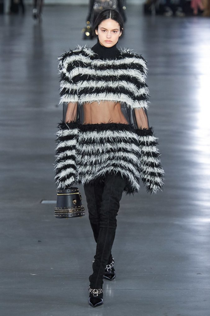 fall-winter-fashion-2020-see-through-sweater-Balmain-675x1013 +80 Fall/Winter Fashion Trends for a Stunning 2020 Wardrobe