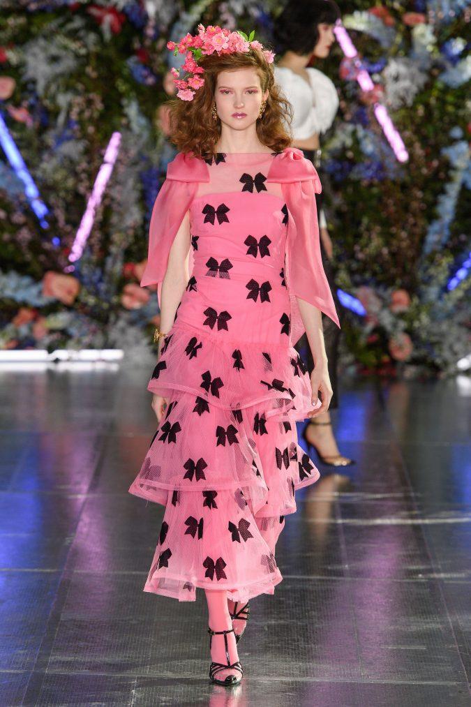 fall-winter-fashion-2020-side-bows-ruffled-dress-Rodarte-675x1013 +80 Fall/Winter Fashion Trends for a Stunning 2020 Wardrobe