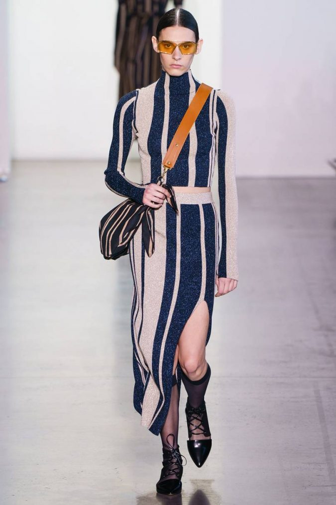 fall-winter-fashion-2020-stroped-dress-ALESSANDRO-LUCIONI-675x1013 +20 Fall Fashion Trends of 2020 for the Fans of Unusual Shoulders and Sleeves