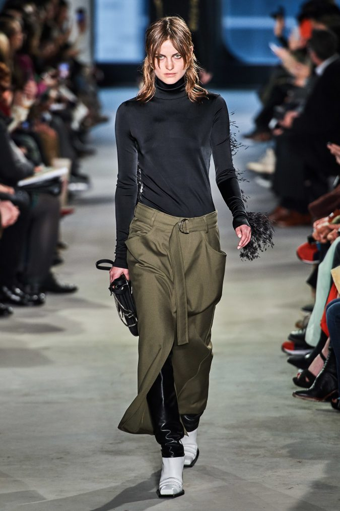 fall-winter-fashion-2020-turtleneck-skirt-Proenza-Schouler-675x1013 +20 Fall Fashion Trends of 2020 for the Fans of Unusual Shoulders and Sleeves