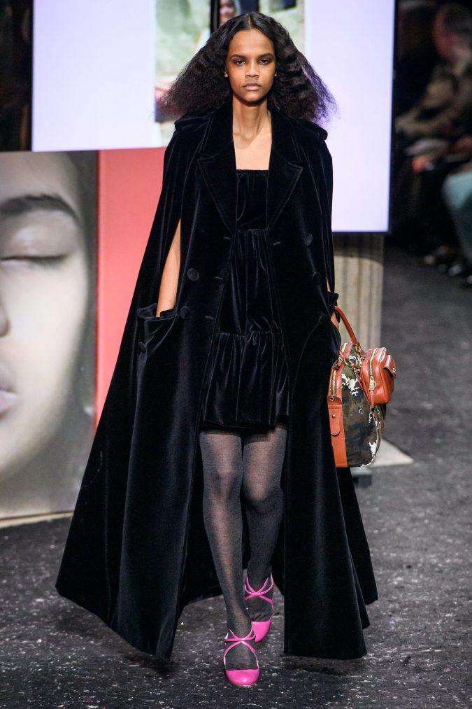 fall-winter-fashion-2020-velvet-dress-and-coat-Miu-Miu-675x1013 +80 Fall/Winter Fashion Trends for a Stunning 2020 Wardrobe