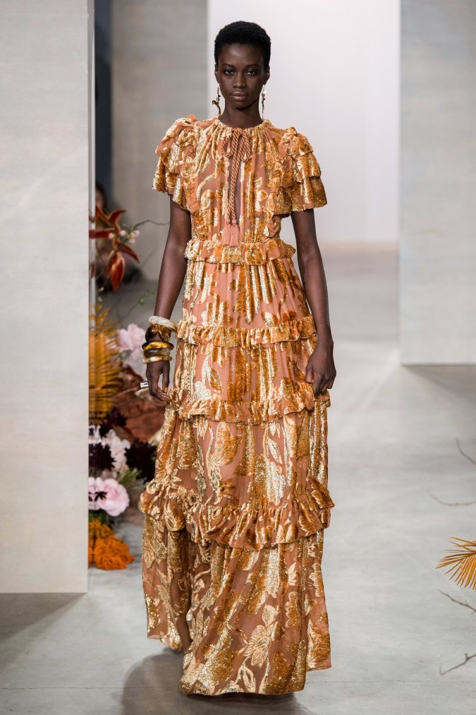 fall-winter-fashion-2020-velvet-ruffled-dress-Ulla-Johnson-675x1013 90 Fall/Winter Fashion Ideas for a Perfect Combination of Vintage and Modern in 2020