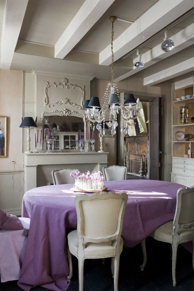 grey-and-lilac-dining-room-675x1013 8 Tricks You Can Do Make Your Home Look Great