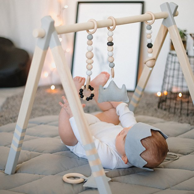 grey-wodden-baby-gym Best 10 Christmas Gift Ideas for a New Born Baby