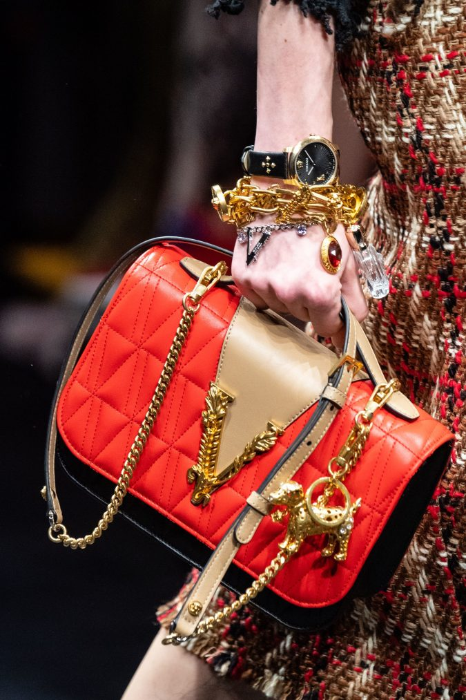 Fall-winter-accessories-2020-bracelets-watch-handbag-Versace-675x1013 65+ Hottest Fall and Winter Accessories Fashion Trends in 2020