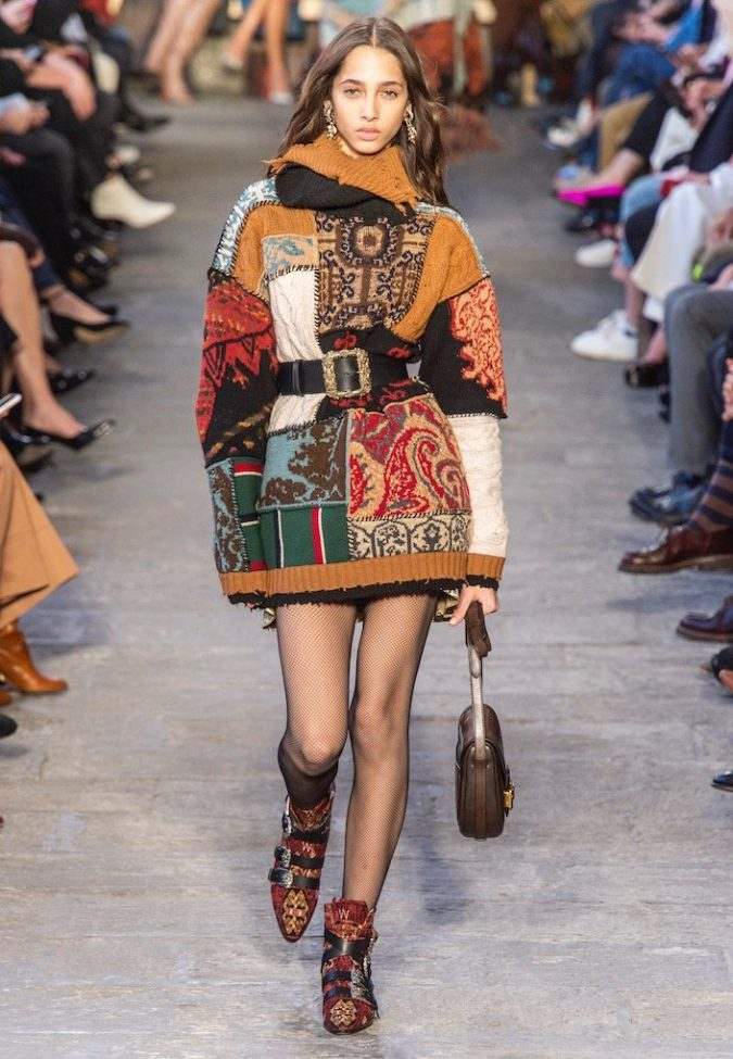 Patchwork-mini-dress-Etro-Fall-2019-675x975 Top 10 Fashionable Winter Fashion Outfit Ideas for Teens in 2020