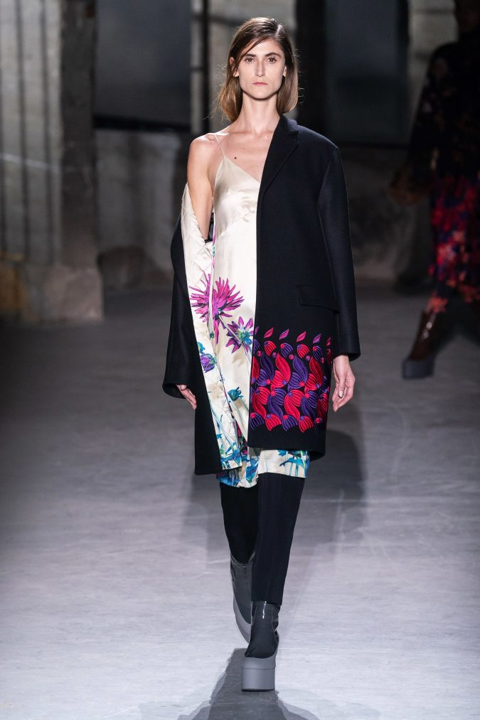 fall-winter-fashion-2020-camisole-dress-Dries-Van-Noten-675x1013 120+ Lovely Floral Outfit Ideas and Trends for All Seasons 2020