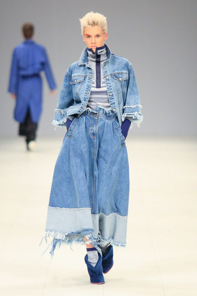 fall-winter-fashion-2020-denim-on-denim-Bobkova-Ukraine-675x1013 40+ Hottest Teenage Girls Fall/Winter Fashion Ideas in 2020
