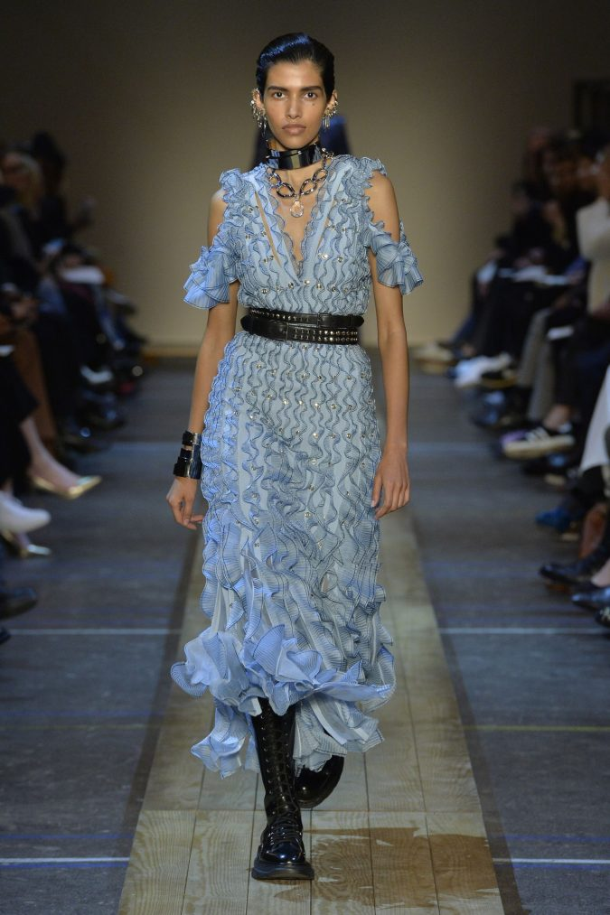 fall-winter-fashion-2020-dress-Alexander-McQueen-675x1013 120+ Lovely Floral Outfit Ideas and Trends for All Seasons 2020