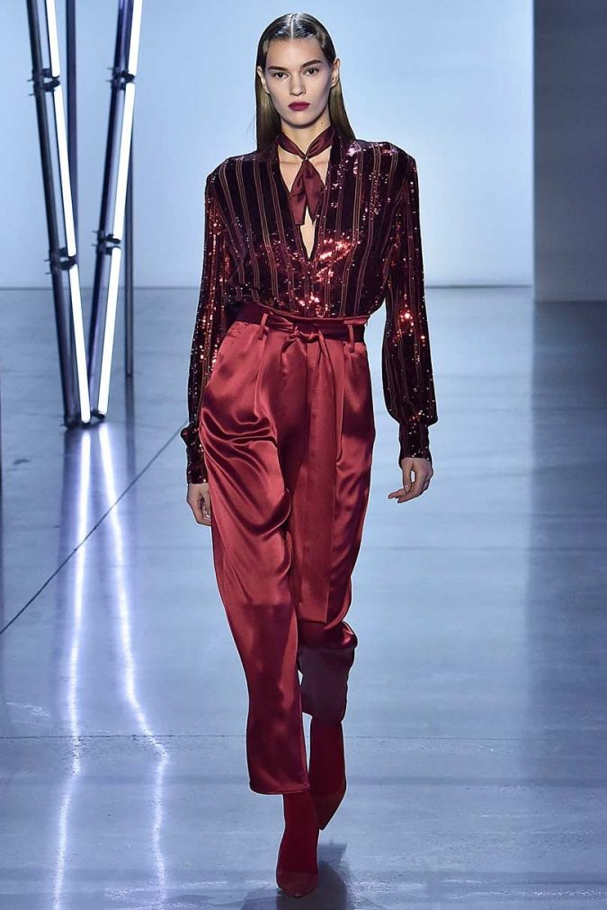 fall-winter-fashion-2020-earthy-colors-sparkely-blouse-satin-loose-fitting-pants-675x1012 Top 10 Winter Predictions and Trends for 2020