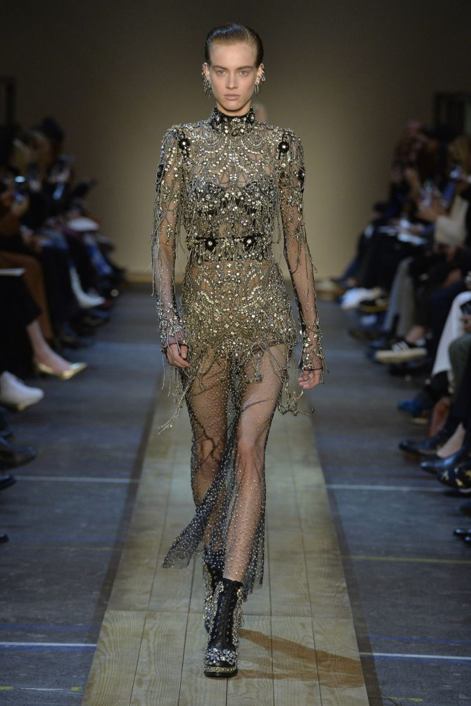 fall-winter-fashion-2020-floral-dress-Alexander-McQueen-2-675x1013 65+ Hottest Fall and Winter Accessories Fashion Trends in 2020