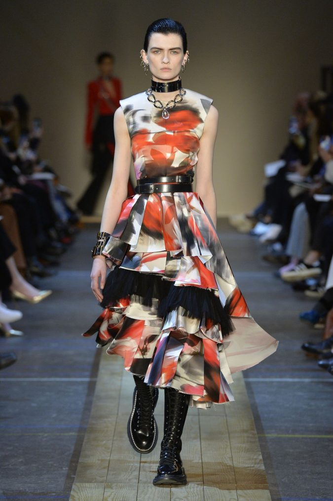 fall-winter-fashion-2020-floral-dress-Alexander-McQueen-675x1013 120+ Lovely Floral Outfit Ideas and Trends for All Seasons 2020