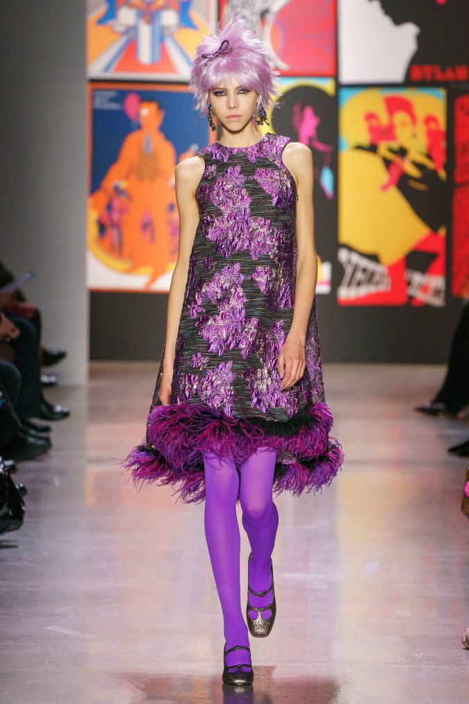 fall-winter-fashion-2020-floral-dress-Anna-Sui-675x1013 120+ Lovely Floral Outfit Ideas and Trends for All Seasons 2020