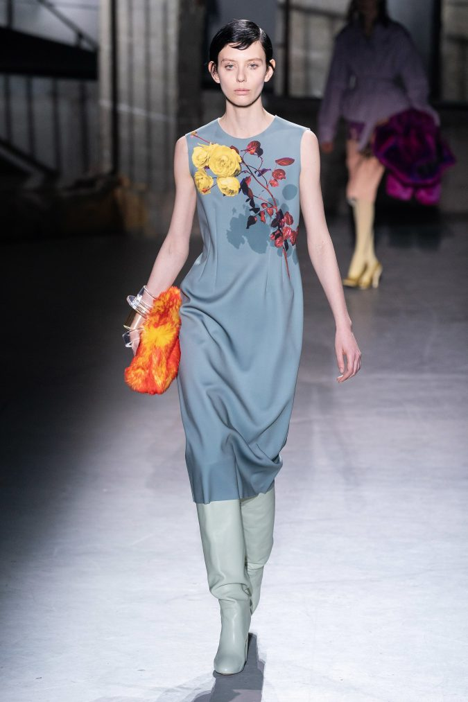 fall-winter-fashion-2020-floral-dress-Dries-Van-Noten-2-675x1013 120+ Lovely Floral Outfit Ideas and Trends for All Seasons 2020