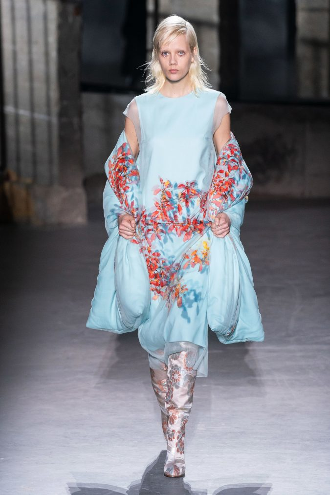 fall-winter-fashion-2020-floral-dress-Dries-Van-Noten-4-675x1013 65+ Hottest Fall and Winter Accessories Fashion Trends in 2020