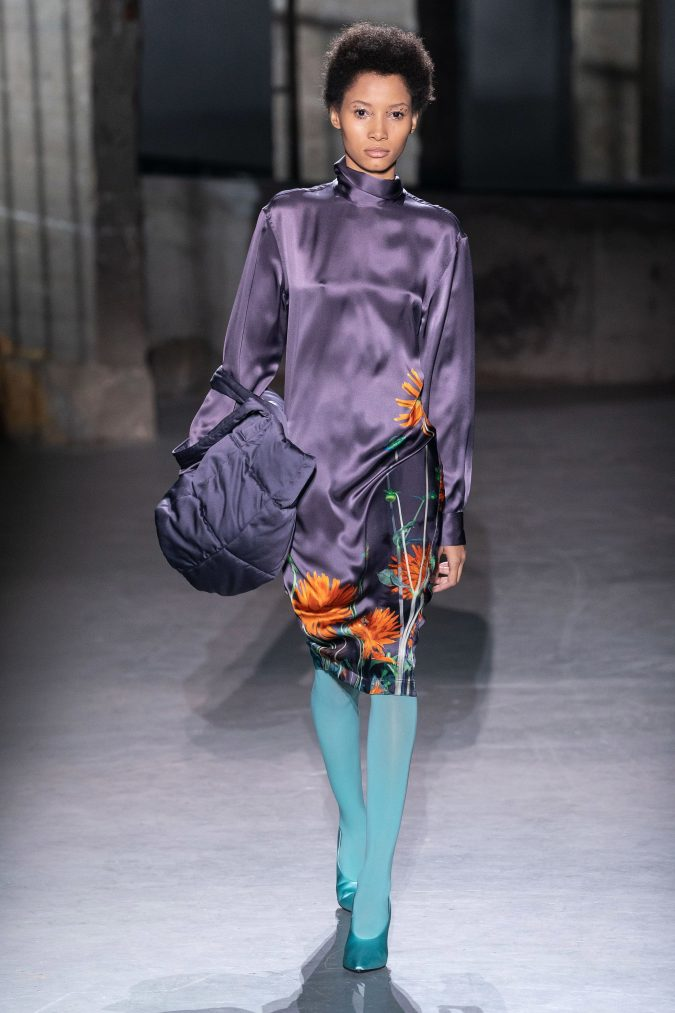fall-winter-fashion-2020-floral-dress-Dries-Van-Noten-675x1013 120+ Lovely Floral Outfit Ideas and Trends for All Seasons 2020