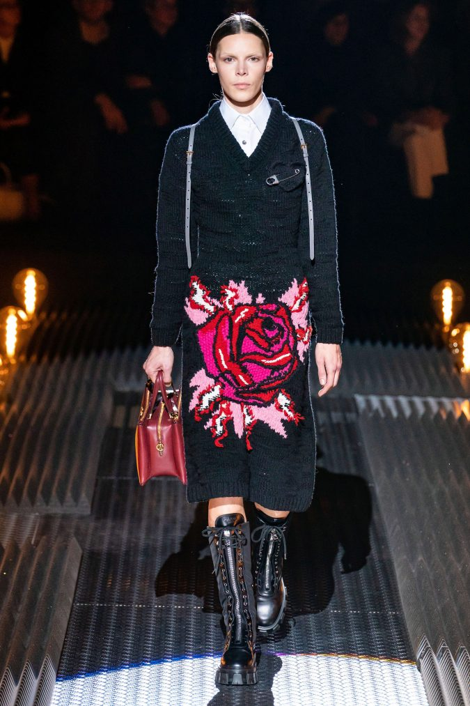 fall-winter-fashion-2020-floral-dress-prada-675x1013 120+ Lovely Floral Outfit Ideas and Trends for All Seasons 2020