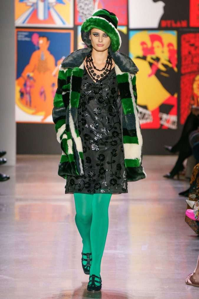 fall-winter-fashion-2020-floral-dress-striped-coat-Anna-Sui-675x1013 65+ Hottest Fall and Winter Accessories Fashion Trends in 2020