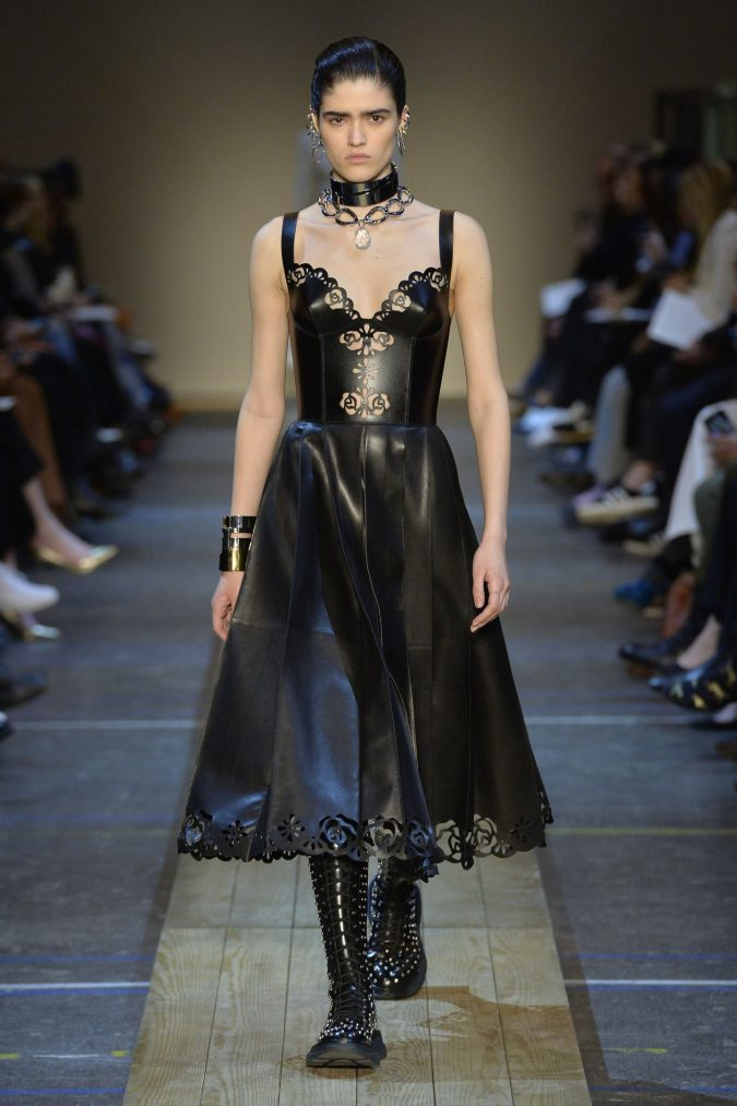 fall-winter-fashion-2020-floral-leather-dress-Alexander-McQueen-1-675x1013 65+ Hottest Fall and Winter Accessories Fashion Trends in 2020