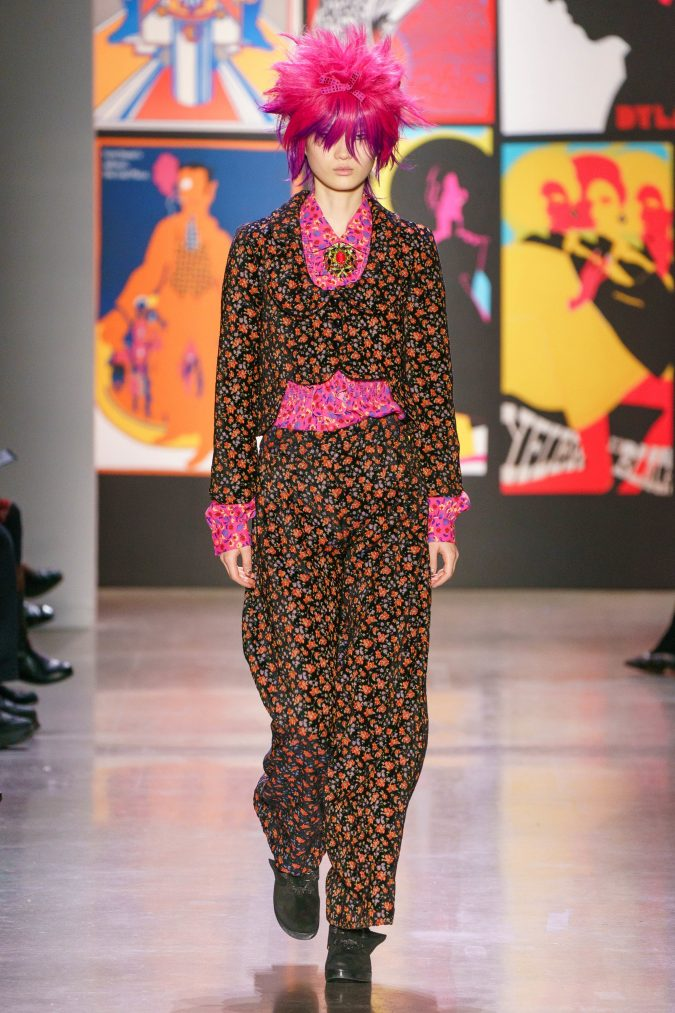 fall-winter-fashion-2020-floral-outfit-Anna-Sui-675x1013 120+ Lovely Floral Outfit Ideas and Trends for All Seasons 2020