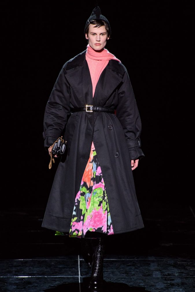 fall-winter-fashion-2020-floral-skirt-coat-Marc-Jacobs-675x1013 120+ Lovely Floral Outfit Ideas and Trends for All Seasons 2020