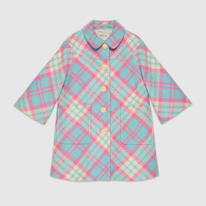 fall-winter-fashion-2020-kids-check-wool-coat-Gucci-675x675 15 Cutest Kids Fashion Trends for Winter 2020