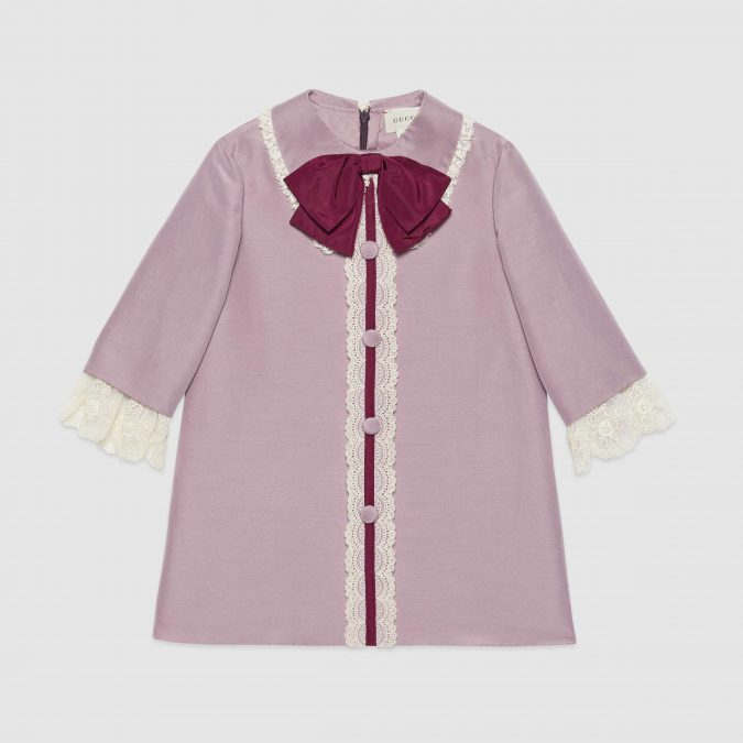 fall-winter-fashion-2020-kids-cotton-silk-cady-dress-with-bow-Gucci-675x675 15 Cutest Kids Fashion Trends for Winter 2020