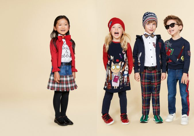 fall-winter-fashion-2020-kids-patched-sweater-sweatshirt-dress-dolce-and-gabbana-675x473 15 Cutest Kids Fashion Trends for Winter 2020