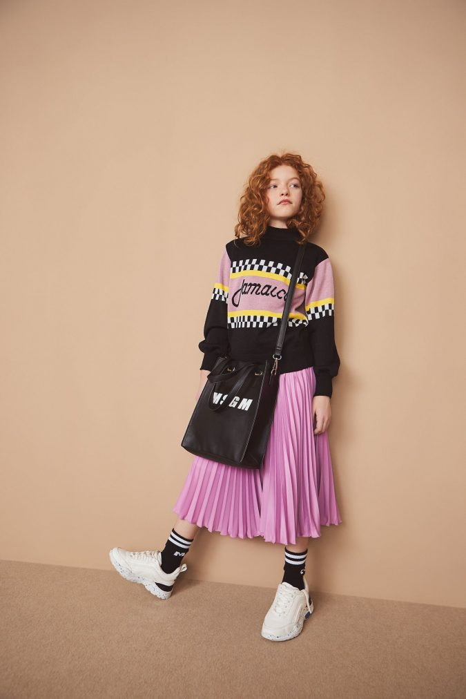 fall-winter-fashion-2020-kids-pleated-skirt-sweater-MSGM-675x1012 15 Cutest Kids Fashion Trends for Winter 2020
