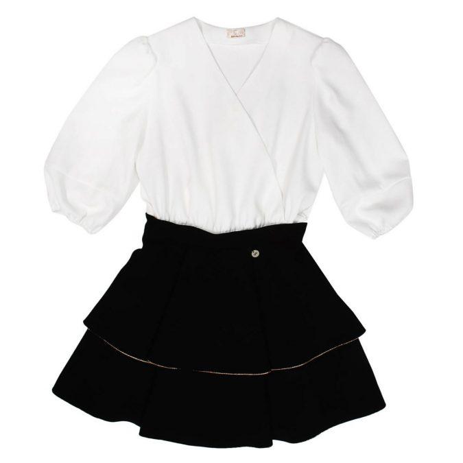 fall-winter-fashion-2020-kids-puffed-sleeve-dress-Elisabetta-Franchi-675x675 15 Cutest Kids Fashion Trends for Winter 2020