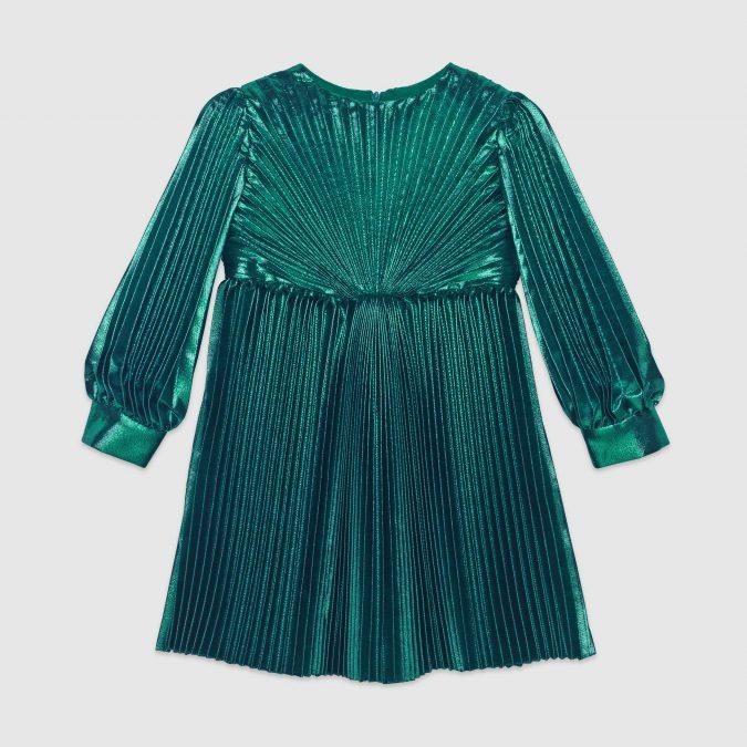 fall-winter-fashion-2020-kids-silk-lam-pleated-dress-Gucci-675x675 15 Cutest Kids Fashion Trends for Winter 2020