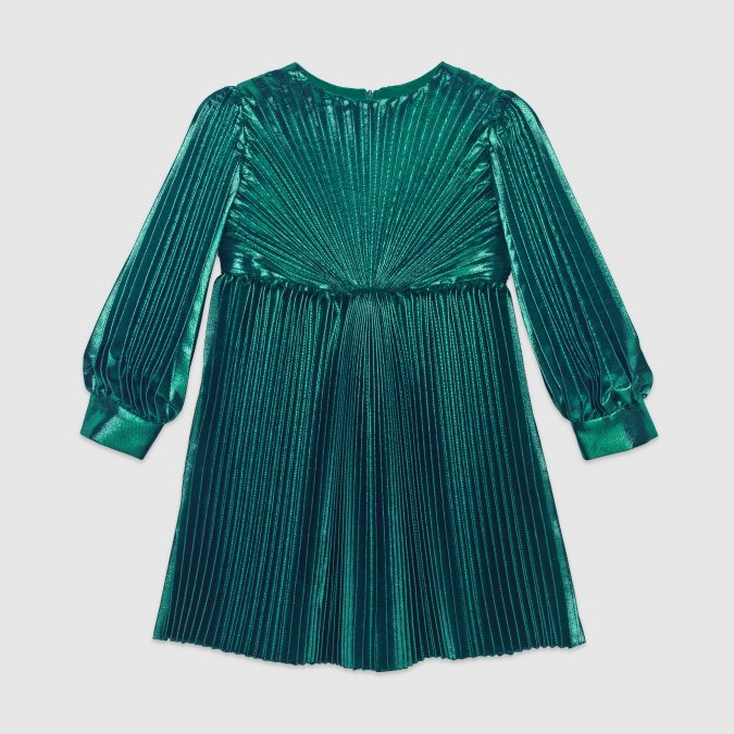 fall-winter-fashion-2020-kids-silk-lam-pleated-dress-Gucci-675x675 15 Cutest Kids Fashion Trends for Winter 2020