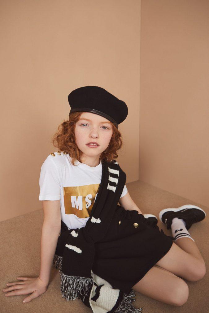 fall-winter-fashion-2020-kids-t-shirt-mini-skirt-scarf-MSGM-675x1012 15 Cutest Kids Fashion Trends for Winter 2020
