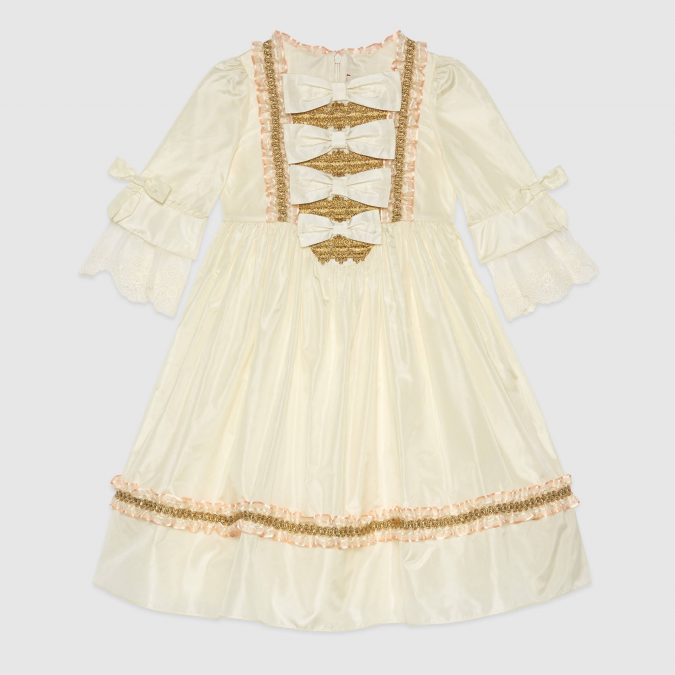 fall-winter-fashion-2020-kids-vintage-ruffled-dress-with-bows-Gucci-675x675 15 Cutest Kids Fashion Trends for Winter 2020