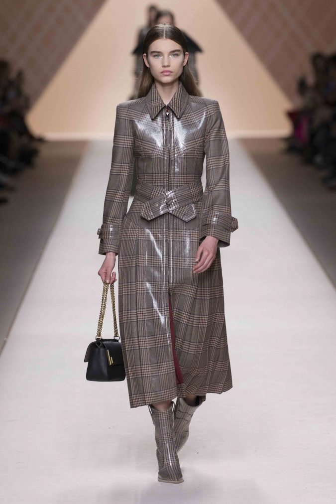 fall-winter-fashion-2020-leather-checked-coat-checked-boots-fendi-675x1012 65+ Hottest Fall and Winter Accessories Fashion Trends in 2020