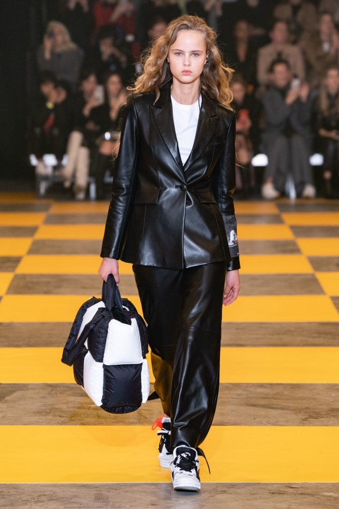 fall-winter-fashion-2020-leather-suit-Off-White-675x1013 45+ Elegant Work Outfit Ideas for Fall and Winter 2020