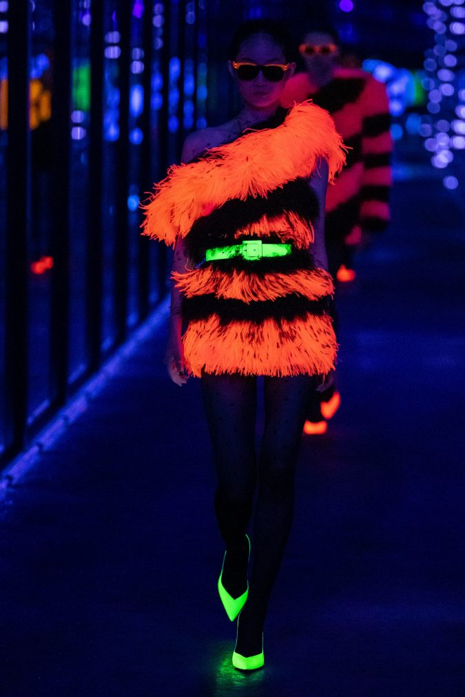 fall-winter-fashion-2020-neon-dress-Saint-Laurent-675x1013 Top 10 Fashionable Winter Fashion Outfit Ideas for Teens in 2020
